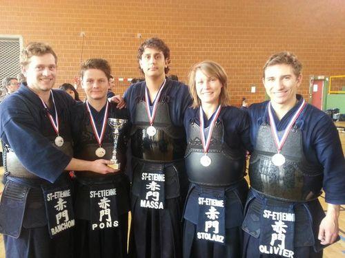 équipe stéphanoise vice-championne Excellence 2014