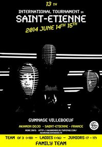 XIII TOURNOI INTERNATIONAL DE SAINT-ETIENNE 2014