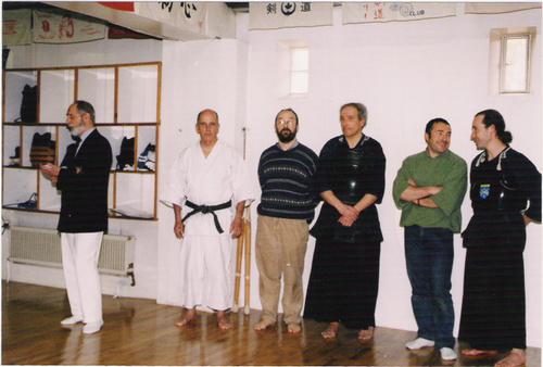Joannès, M. Reynaud (professeur de karaté), Michel, M. Roudet, Alain, Olivier