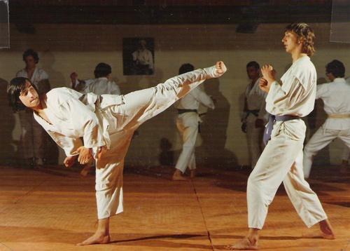 cours de karate au dojo